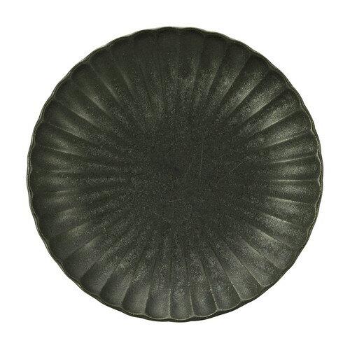 10個セット ☆ 中皿 ☆ かすみ 黒 18cm丸皿 [ D-18.5 H-2.8cm ]
