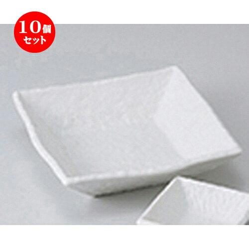 10個セット ☆ 刺身 ☆ 白マット正角5.0平鉢 [ 16.3 x 16.3 x 4.3cm ]