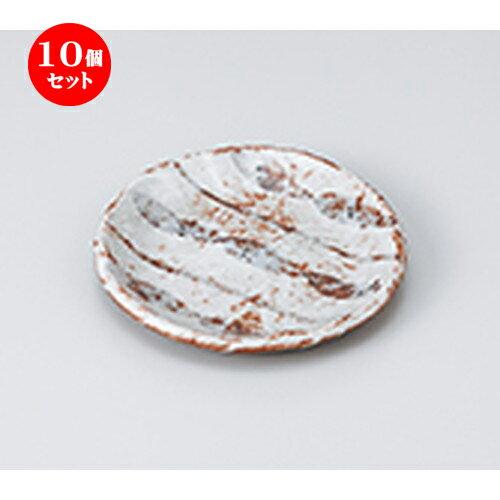 10個セット ☆ 和皿 ☆ 志野ストライプ4寸丸皿 [ 13.5 x 1.8cm ]