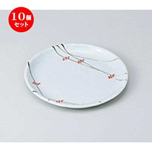 10個セット☆ 和皿 ☆ 花ちらし丸7.0皿 [ 21.4 x 2cm ] 【 料亭 旅館 和食器 飲食店 業務用 】