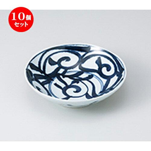 10個セット ☆ 多用鉢 ☆ 藍草紋六兵5.5浅鉢  [ 17.8 x 4.8cm ]