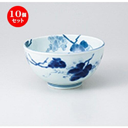 10個セット ☆ 多用丼 ☆ 藍染ぶどうお好み碗 [ 13.3 x 7.5cm ]