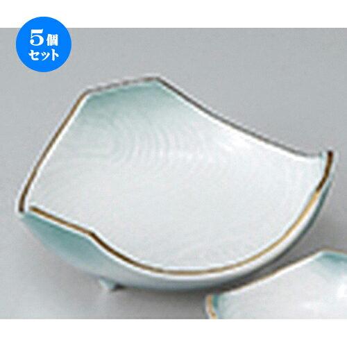 5個セット ☆ 刺身 ☆ 金彩ヒワ吹刺身鉢 [ 15 x 15cm ]