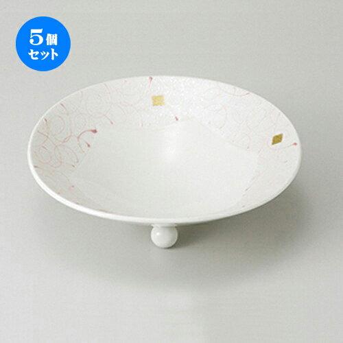 5個セット☆ 向付 ☆ 乱線ピンク6寸向付 [ 18.8 x 6cm ]
