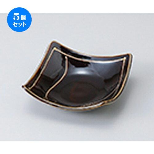 5個セット☆ 小鉢 ☆ 琥珀スクエアー小鉢 [ 12.8 x 12.8 x 4.5cm ]