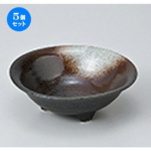 5個セット☆ 小鉢 ☆ 白吹天目三ツ足小鉢 [ 12 x 4.2cm ]