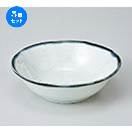 5個セット☆ 小鉢 ☆ 白均窯タタキ4.0鉢 [ 14.2 x 4.2cm ] 【 料亭 旅館 和食器 飲食店 業務用 】