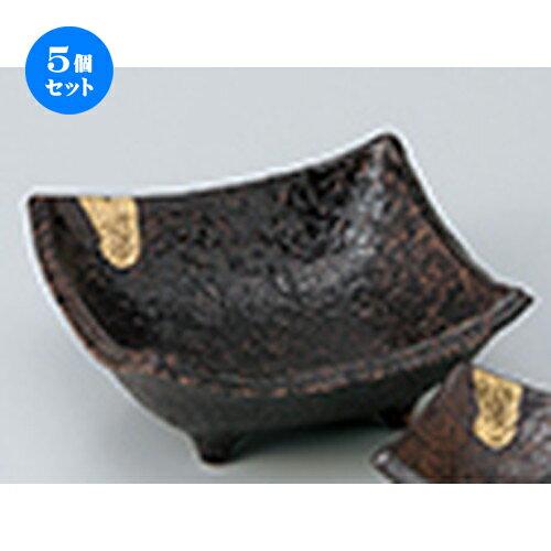 5個セット ☆ 刺身 ☆ 南蛮金彩刺身鉢 [ 14.5 x 14.5 x 6.5cm ]