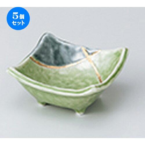 5個セット☆ 小鉢 ☆ 若草金彩角3.3小鉢 [ 8.4 x 8.2 x 4.8cm ]