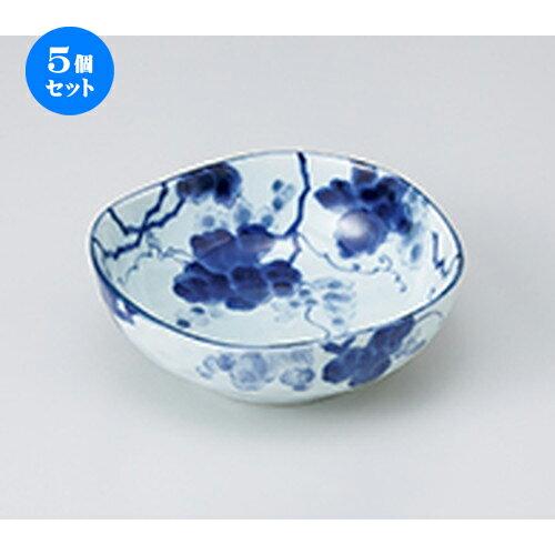 5個セット☆ 中鉢 ☆ 藍染ぶどう 4.5深鉢 [ 13.7 x 5cm ] 【 料亭 旅館 和食器 飲食店 業務用 】