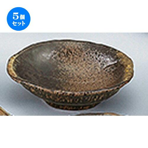 5個セット☆ 和陶オープン ☆ 琥珀 5.5刺身鉢 [ 17.5 x 5.5cm ]