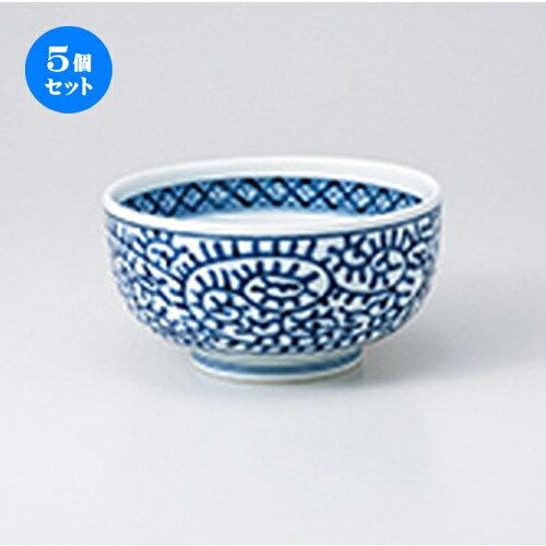 5個セット☆ 多用丼 ☆ タコ唐草5.0京碗 [ 15.2 x 8cm ]