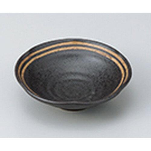 5個セット☆ 小鉢 ☆ 黒ライン平小鉢 [ 13.8 x 4.2cm ]