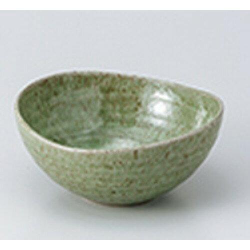 5個セット☆ 小鉢 ☆ 土物楕円鉢 中 緑  [ 13.6 x 13.2 x 6.1cm ]