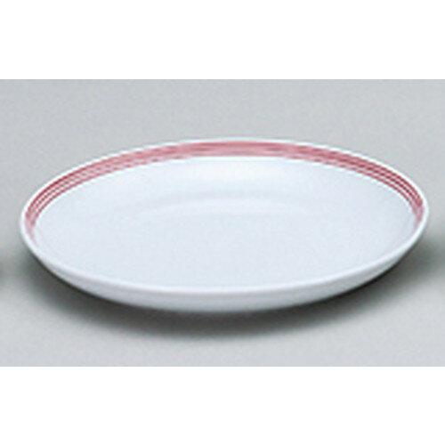 5個セット☆ 中華オープン ☆ スリーライン(赤) TAB85103深口一品皿 [ 21.6 x 2.8cm ]