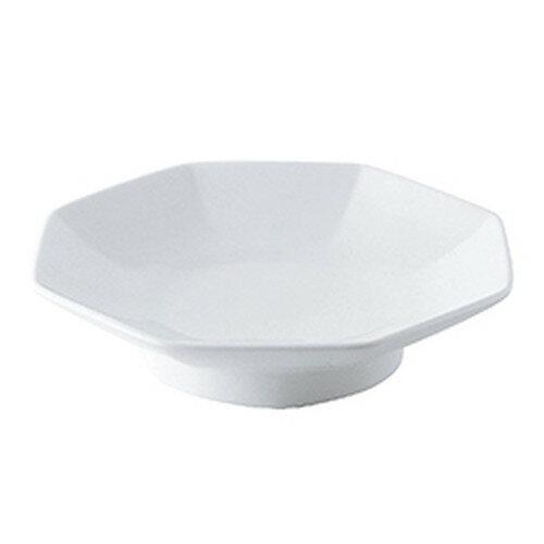 5個セット☆ 中華オープン ☆ MEGA(白磁強化) 八角皿(SQJ81) [ 19.2 x 18.2 x 4.5cm ]