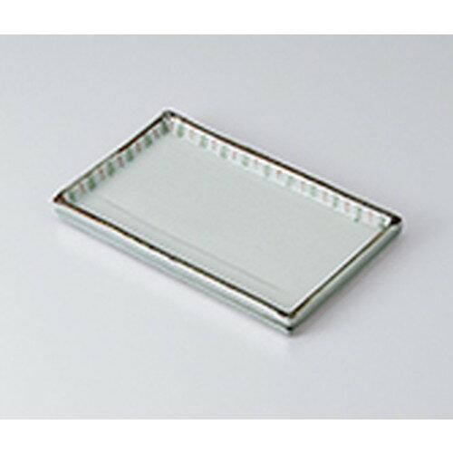 10個セット ☆ 焼物皿 ☆色入十草焼物皿 [ 22 x 13.3 x 1.8cm ]