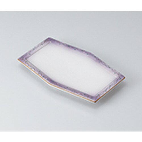3個セット☆ 焼物皿 ☆むさしの六角焼物皿 [ 23.6 x 15 x 2.3cm ] 【 料亭 旅館 和食器 飲食店 業務用 】