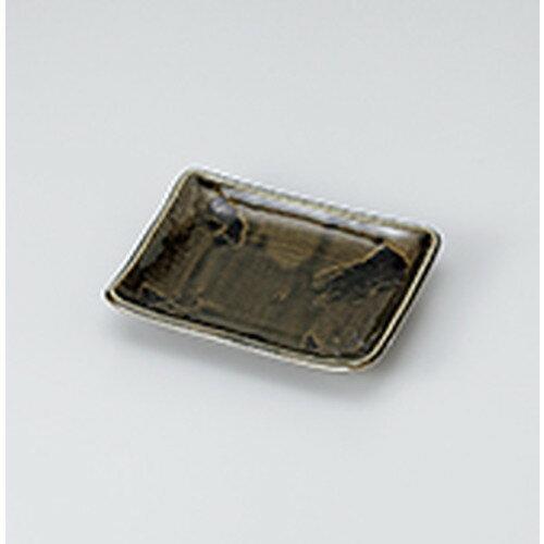 10個セット☆ 焼物皿 ☆撥水オリベ刷毛のり皿 [ 13.9 x 11.2 x 2.4cm ]