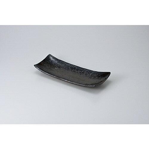 10個セット☆ さんま皿 ☆黒緑彩サンマ皿 [ 28.7 x 11.3 x 4.2cm ]