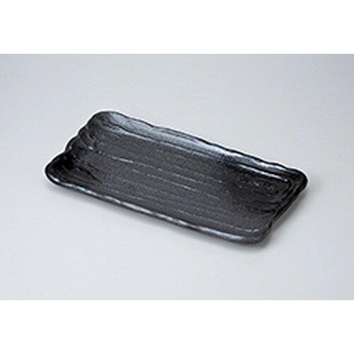 10個セット☆ 焼物皿 ☆黒金彩吹 多用皿 [ 33.3 x 18.5 x 2.8cm ]