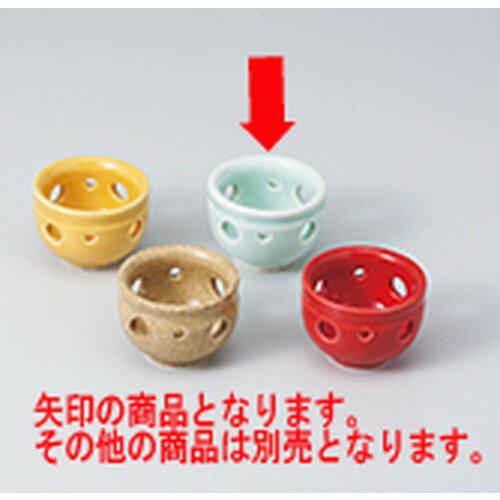 10個セット ☆ 珍味 ☆青磁透かし珍味 [ 5.4 x 3.8cm ]