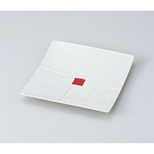 10個セット ☆ 前菜皿 ☆ラスター市松6.0角皿(赤) [ 17.8 x 17.5 x 2.7cm ]