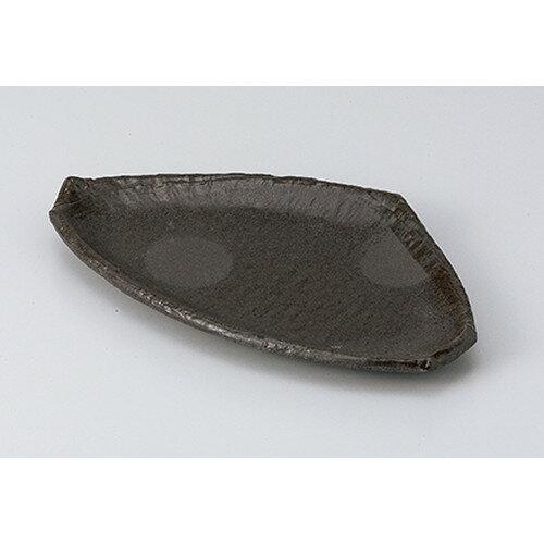 10個セット ☆ 焼物皿 ☆炭化土三角7.5皿 [ 22.5 x 13.2 x 2.0cm ]