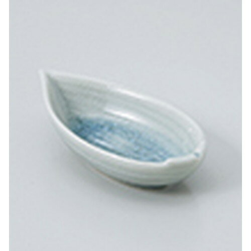 3個セット☆ 珍味 ☆ブルー貫入笹型珍味 [ 9.8 x 5.4 x 2.7cm ]