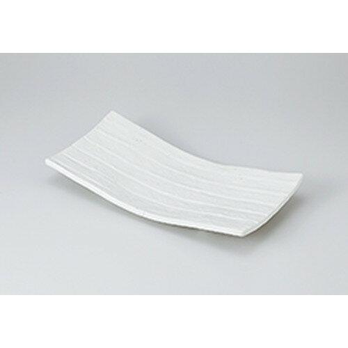 10個セット☆ 焼物皿 ☆粉引四足まな板皿 [ 31 x 16 x 4.5cm ]