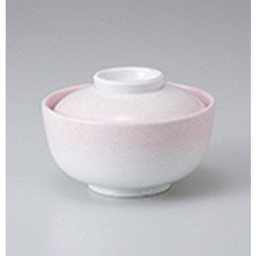 10個セット ☆ 蓋物 ☆ ピンク吹円菓子碗 [ 11.5 x 7.8cm ]