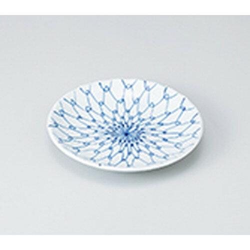 10個セット ☆ 和皿 ☆ 青白磁網4.5丸皿 [ 13.8 x 2.2cm ] 【 料亭 旅館 和食器 飲食店 業務用 】