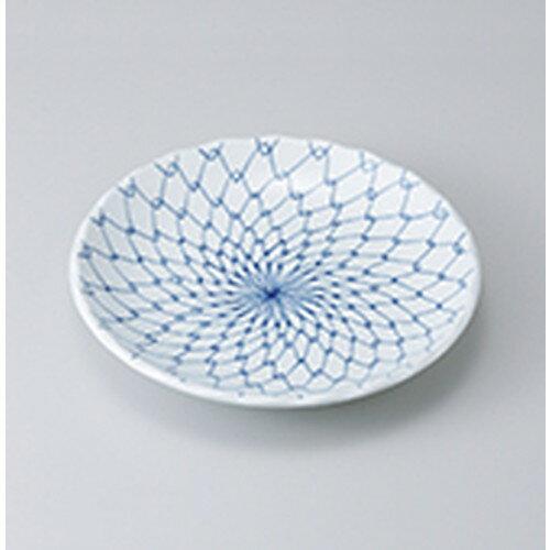 10個セット☆ 和皿 ☆ 青白磁網花型7.0丸皿 [ 21.3 x 3.4cm ] 【 料亭 旅館 和食器 飲食店 業務用 】
