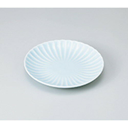 10個セット ☆ 和皿 ☆ 菊割 青白 18cm丸皿 [ 18.5 x 2.8cm ] 【 料亭 旅館 和食器 飲食店 業務用 】