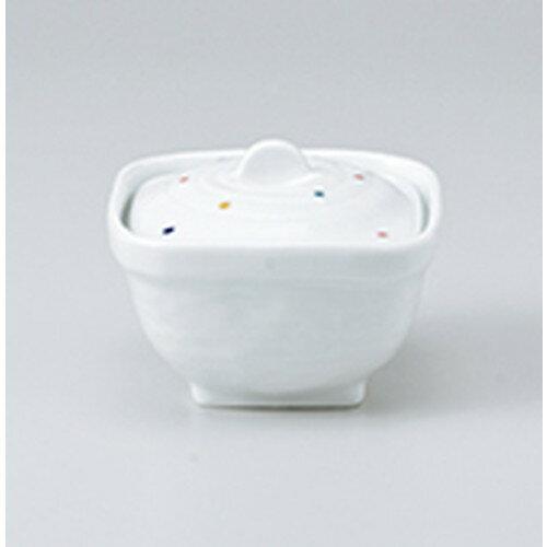 10個セット ☆ 蓋物 ☆ 彩り水玉角煮物碗 [ 10 x 10 x 7.5cm ]