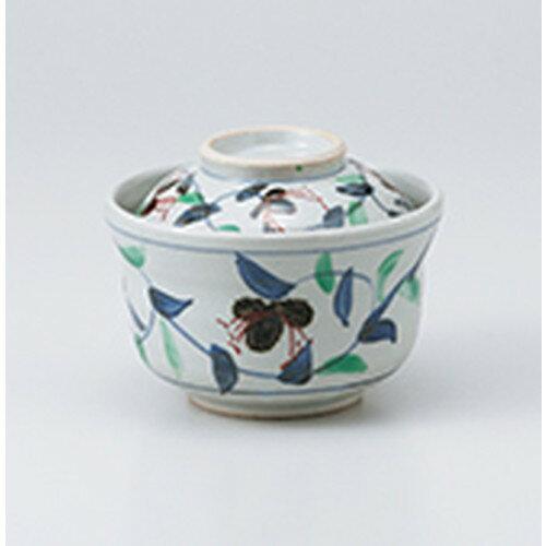 10個セット ☆ 蓋物 ☆ 唐草円菓子碗 [ 12.8 x 9cm ]
