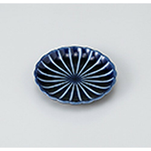 10個セット ☆ 小皿 ☆ 茄子紺菊型3.0皿 [ 9.8 x 1.8cm ] 【 料亭 旅館 和食器 飲食店 業務用 】