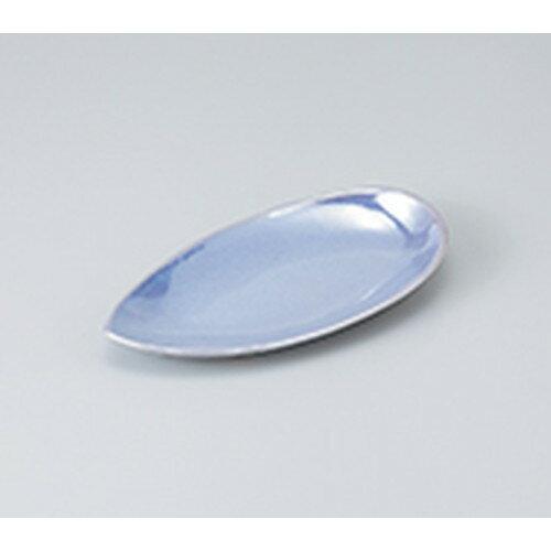 10個セット ☆ 和皿 ☆ つゆのしずく取皿 ブルーラスター [ 19 x 9.5 x 2.8cm ]