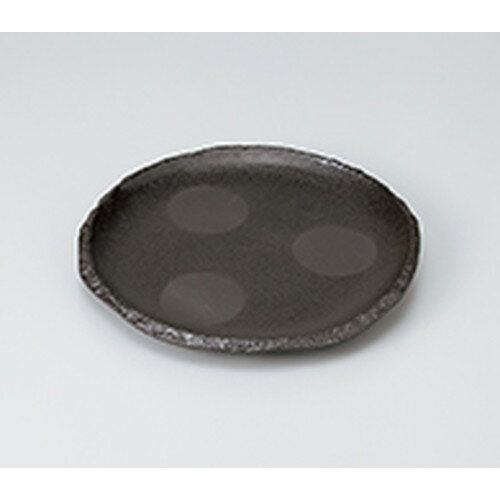 10個セット☆ 和皿 ☆ 炭化土丸7.5皿(605014) [ 22.7 x 2.5cm ] 【 料亭 旅館 和食器 飲食店 業務用 】