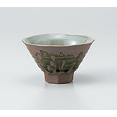 5個セット☆ 飯椀 ☆ 織部流し高台茶碗 [ 12 x 7cm ]
