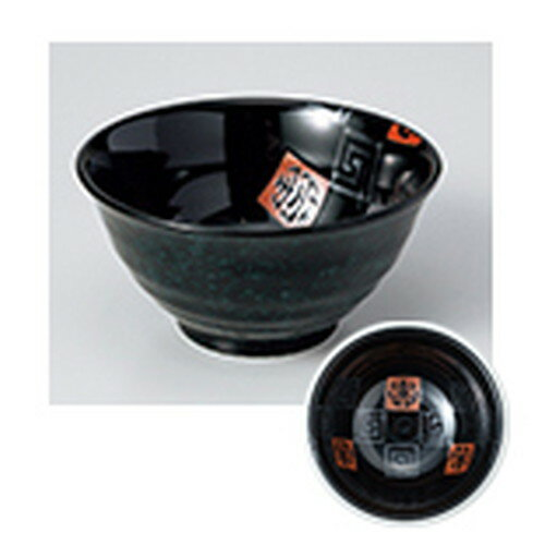 10個セット ☆ 丼 ☆ 寿雷門(黒宴)5.0反種丼 [ 15.3 x 7.8cm ]