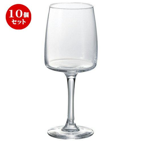 10個セット ☆ ワイングラス ☆ アルコロック アクシオム ワイングラス 350cc [ D 6.4 x w 7.7 x H 19.3cm ]