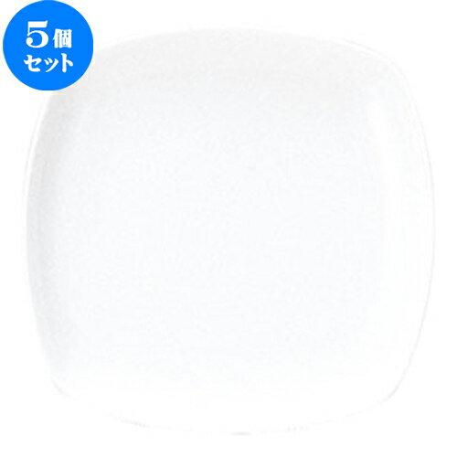 5個セット☆ 角皿 ☆ ネージュ(リーバイ) 17.5cm スクエアープレート [  D 17.5 x H 2.3cm ]
