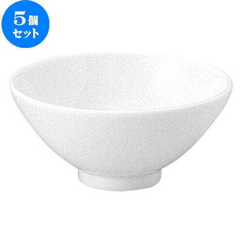 5個セット☆ ラーメン丼 ☆ 麗白(リーバイ) 12.5cm ライス丼 [  D 12.5 x H 5.8cm ]