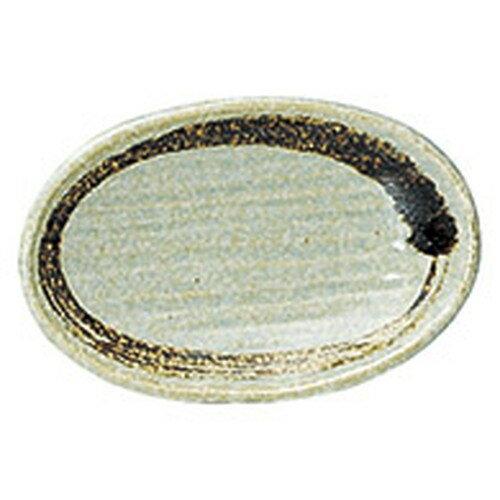 10個セット ☆ 楕円皿 ☆ 薄萌(うすもえぎ) 4寸8分楕円皿 [ L 14.5 x S 9.4 x H 2.6cm ]