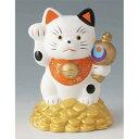 置物 小判のり招き猫貯金箱 [高さ13.0cm] 【縁起物 かわいい ...