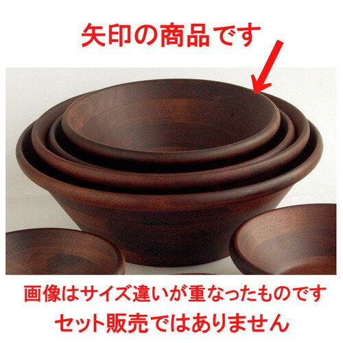 3個セット☆ ビュッフェ用品 ☆ 天然木サラダボウル・こげ茶 Φ21cm [ 約Φ21 x H8cm ]