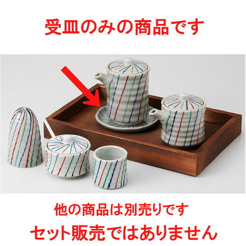 3個セット☆ カスター ☆ 三色十草 受皿 [ 9.5 x 1cm 75g ]