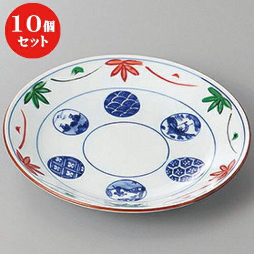 10個セット ☆ 和皿 ☆花つなぎ山水5.5丸皿 [ 16.6 x 2.8cm ]