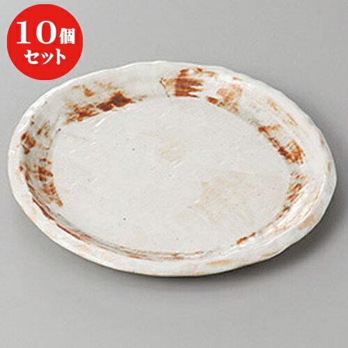 10個セット ☆ 和皿 ☆志野たたき6.0丸皿 [ 17.5 x 2cm ]